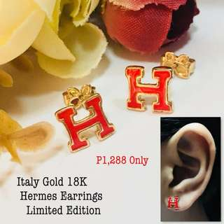 Italy Gold 18k Hermes Earrings Limited Edition