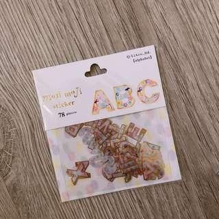 🚚 💜✨字母貼紙包