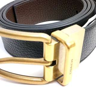 COACH 64840 WIDE HARNESS CUT-TO-SIZE REVERSIBLE PEBBLE LEATHER BELT