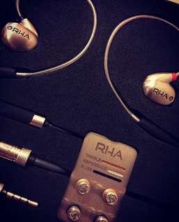 RHA T10i Earphone (support iPhone) 98% new