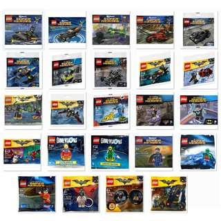 🚚 LEGO DC Comic Super Heroes Polybag (Bulk lot 24 pcs) - 5001623 /5002126 /5004081 /5004928 /5004929 /5004930 /30160 /30161 /30164 /30166 /30300 /30301 /30303 /30446 /30521 /30522 /30523 /30524 /30603 /30604 /30606 /30607 /71340 /71342 (NEW & SEALED)
