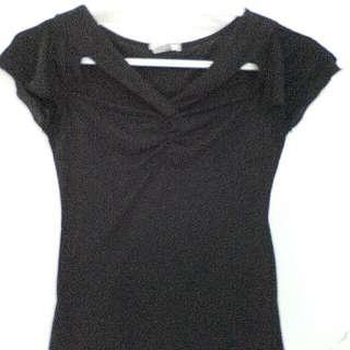Black sexy blouse