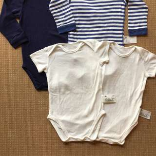 (18-24 mos) Uniqlo set of 4 bodysuits/onesies