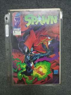 Spawn issue 1 (Collector) and 3 comics
