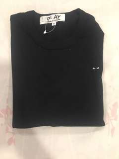 Comme De Garcons Black Shirt with black heart