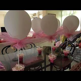 Table top balloons for sale