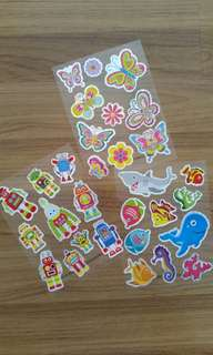 Pretty Laser PVC Stickers for ● party goodie bags ● reward stickers ● decorations ● scrapbook