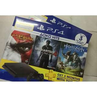 ps4 hits 2 bundle set (NEW ORI MY SET, 1 YEARS WARRANTY SONY)