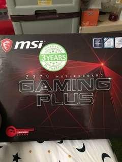 MSI Z370 gaming plus mothet board