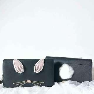 Kate spade rabbit cali // BLACK MULTI // Size : 25cm x 14cm