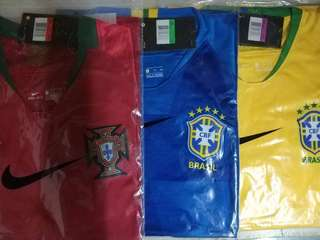 * WORLD CUP JERSEYS * BRAZIL JERSEY ARGENTINA JERSEY PORTUGAL JERSEY GERMANY JERSEY ‼️ GREAT FOR CASUAL WEAR TO SUPPORT YOUR TEAM!