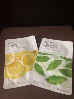 RUSH SELLING!!! The Face Shop Real Nature Green Tea & Lemon