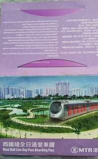 西鐵全日通紫色車票包完整車套☺😄😉