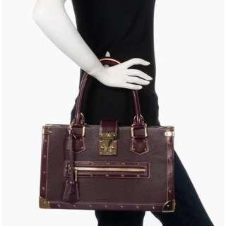 LOUIS VUITTON plum suhali leather le fabuleux bag