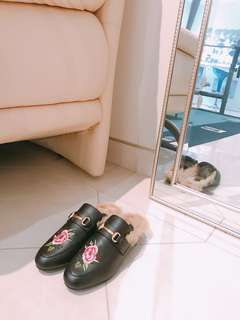 GUCCI look alike fur loafers