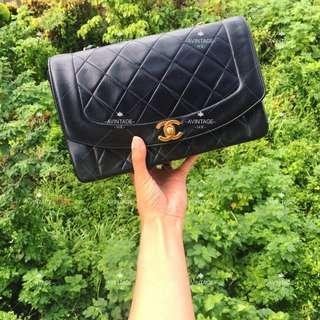 Chanel Vintage 黑色羊皮 Diana Bag 25cm