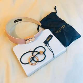MIMCO Rose Gold hair accessory bundle: headband and hair tie #PANDORAxMIMCO