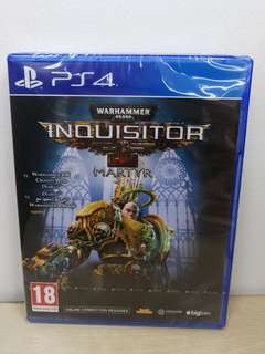 (Brand New) PS4 Warhammer 40,000I Inquisitors Martyr / R2
