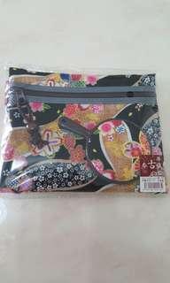 日本 和風化妝袋連鏡