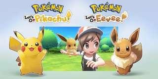(Pre-Order) Nintendo Switch Pokemon Let's Go Pikachu / Eevee