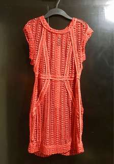 Red Crocheted Dress