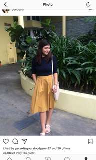 Top and uniqlo skirt 💕