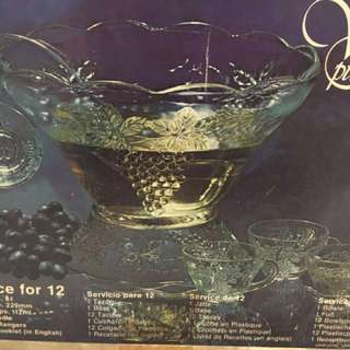 Vintage Punch Set. Come with 12 glass cups.
