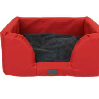 T&S Jackaroo Solid Red Pet Bed size Large
