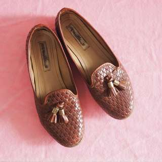 Indigo Loafers by VANILLA SHOES (brown)