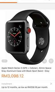 Apple Watch Series 3 42mm GPS+CELLULAR