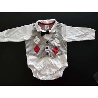 Smart Baby Romper with Bowtie
