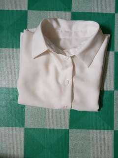 Button down white polo