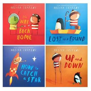 💥 NEW - Award Winning Oliver Jeffers Set of 4 books - Children story books