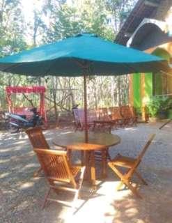 Set meja garden+payung MGP411 grade A