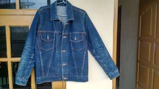 Jual jaket jeans custom made