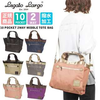 [Re-Stock] Japan Anello Legato Largo 10 Pockets 2 Way Tote Sling Bag~ Original 100% Authentic ☆LH-F1051