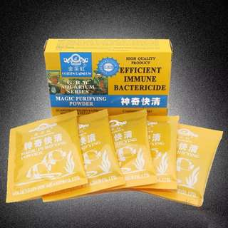 Fish tank water magic purifying agent @$5 per sachet only!