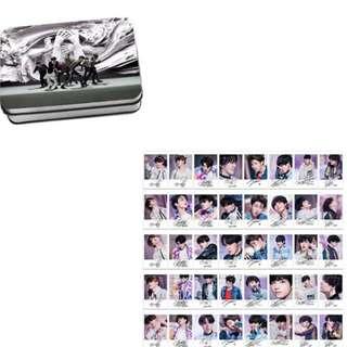 Preorder - BTS FAKE LOVE W SIGNATURE LOMOCARD TIN *40 PCS* exc.pos