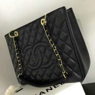 Chanel Caviar GST Black with GHW
