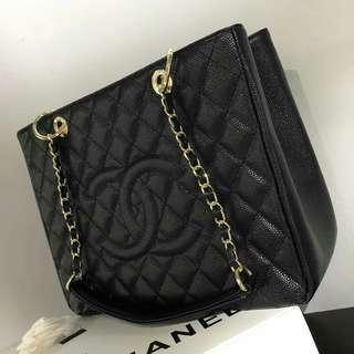 Chanel Caviar GST Black with GHW