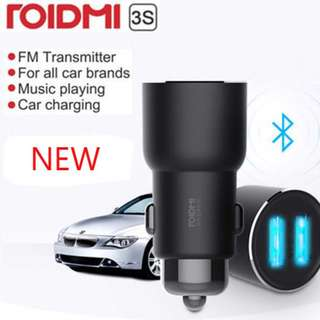 Xiaomi ROIDMI 3S Car Bluetooth FM Transmitter MP3 Player Dual USB Charger NEW BFQ04RM Music car charger fast
