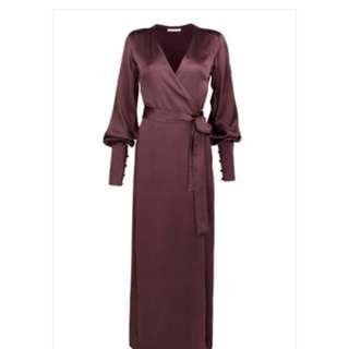 Isabelle Quinn Elsa Wrap Dress- Plum