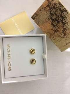 MK gold stud earrings