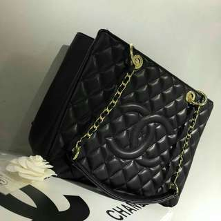 Chanel Lambskin GST Black with GHW