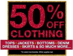 50% OFF EVERTHING