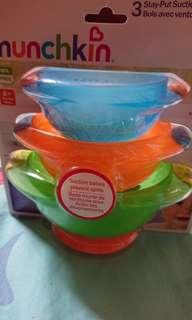 Brand new Munchkin Suction Bowls