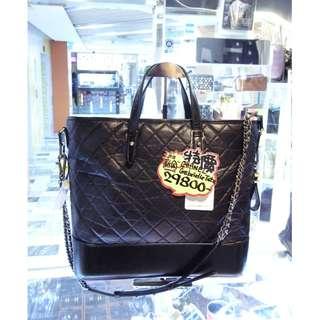 Chanel CC Logo Black Leather Gabrielle Large Size Chain Shoulder Shopping Tote Handbag Hand Bag A93823 香奈兒 黑色 牛皮 皮革 真皮 加布里埃 大號 手挽袋 手袋 肩袋 袋 鍊袋 購物袋 斜揹袋 斜背袋
