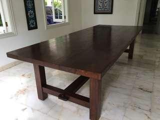 Long 3m x 1.2m Teak Dining Table