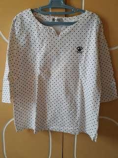 Beverly Hills Polo Club polka dot blouse