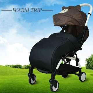 Windproof warm pushchair cover